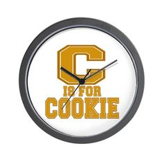 C is for Cookie Wall Clock on CafePress.com