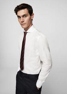 aeb29f22 Slim-fit tailored italian fabric shirt - Man | OUTLET United Kingdom Mango