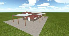 Dream #steelbuilding built using the #MuellerInc web-based 3D #design tool http://ift.tt/1NQqI83