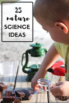 Outdoor nature science activity for awesome kids science! Practical and useful science activities you can do outdoors and use nature as part of the activity.