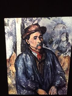 "Paul Cezanne ""Peasant In Blue Blouse"" French Post-impressionism 35mm Art Slide  