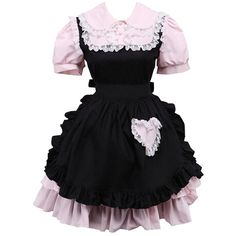 Partiss Women's Ruffles Retro Gothic Punk Lolita Dress (€50) ❤ liked on Polyvore featuring dresses, retro dresses, flouncy dress, goth punk dress, retro cocktail dresses and flounce dress
