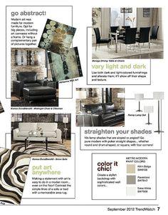 Modern Design September Trendwatch by Ashley Furniture HomeStore