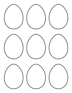 Printable full page large egg pattern Use the pattern for crafts