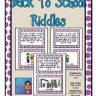 Riddles Cards for Back to School by C & C Teach First