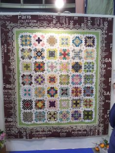 Lucy Boston Patchwork of the Crosses Quilt at the Yokohama Quilt Show 2014.
