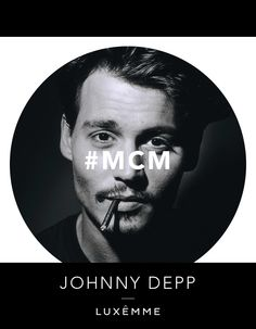 MCM - Johnny Depp. Captain Jack, Edward Scissorhands, Donnie Brasco, Don Juan; he has been known as many charactors but the man himself is highly private. He is our MCM and we think many of you will agree with this choice! #mcm #luxemme #fashion #style #JohnnyDepp