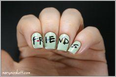 Mary Monkett-friends #nail #nails #nailart