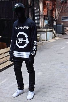 ninja style clothing | sweater goth ninja street goth blvck fashion dark pants edit tags