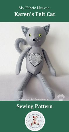 Selling Handmade Items, Felt Cat, Invite Your Friends, Say I Love You, Sell On Etsy, Sewing Patterns, Etsy Seller, Presents, Teddy Bear