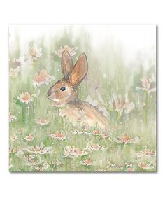 The Holiday Aisle Peter Cottontail Gallery Wrapped Canvas Decorative Accent Size: H x W x D Farmhouse Wall Decor, Farmhouse Style Decorating, Easter Paintings, Canvas Paintings, Bunny Painting, Rock Painting, Antique Farmhouse, Home Art, 5 D
