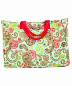 Mud Pie Blue Paisley Essential Tote Bag $26.08