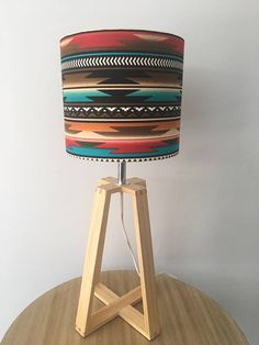 This Aztec Native American fabric drum shade is high and in diameter. Perfect for smaller table lamps or bedside tables. Native American Bedroom, Native American Decor, American Indian Decor, Western Bedroom Decor, Western Rooms, Vintage Western Decor, Southwestern Decorating, Southwest Decor, Southwestern Bedroom