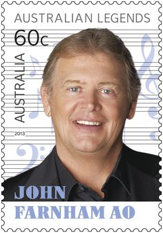 Australian Birthday Today - 01 July - A Cleaning lady started John Farnham to fame. John Farnham, Australian Icons, Australian Men, John Boy, Australia Day, Sports Stars, Popular Music, Postage Stamps, Music Artists
