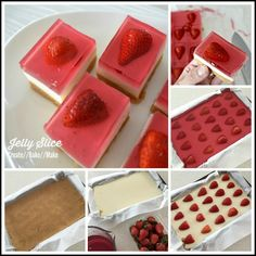 Strawberry Jelly Slice, both regular and thermomix instructions included
