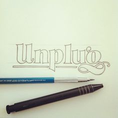 Brilliant lettering by Matthew Tapia.  …every once in a while. #lettering #handlettering #unplug (Taken with Instagram)