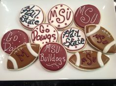 MSU Bulldogs - Decorated Sugar Cookies by I Am The Cookie Lady