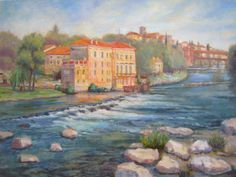 """""""View of Bassano"""", oil painting by Robie Benve"""