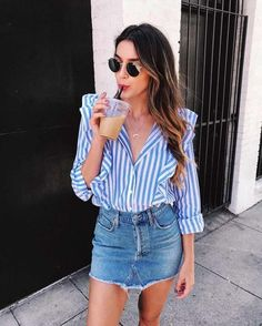 With summer just around the corner here's a trendy selection of outfits you can wear for both spring outfits and summer outfits just alike - fashion Casual Summer Outfits, Spring Outfits, Trendy Outfits, Winter Outfits, Mode Outfits, Fashion Outfits, Fashion Fashion, Spring Fashion, Fashion Trends