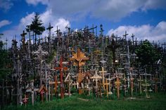 hill of crosses. lithuania.