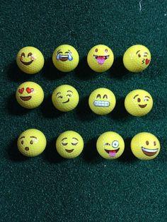 12 Emoji Golf Balls #Unbranded #GolfEquipmentIdeas #GolfGifts