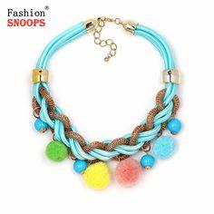 Women vintage choker pendants&necklaces boho necklaces ethnic bohemian jewellery statement tribal Marine bijoux femme mujer #Affiliate