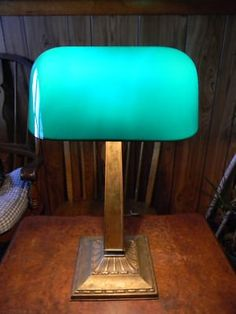 Antique Bankers Lamp