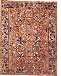 Heriz rug  size approximately 6ft. 10in. x 9ft.