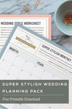 FREE PRINTABLE: Super Stylish Wedding Planning Pack  Click the image to download your free pack now!  #weddingplanning #weddingplanning tips #freedownload #weddingstationery