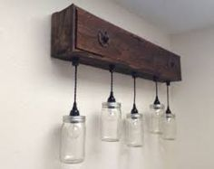 Great Boxes Rustic Vanity Light Fixtures Wooden Wood Simple Bottle Awesome Amazing Glasses