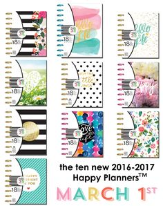 ten new Happy Planner? MARCH 1st button   me & my BIG ideas