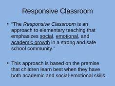 responsive classroom | Responsive Classroom Highlights Powerpoint