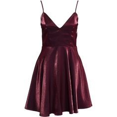 Nly One Cocktail Satin Dress (115 BRL) ❤ liked on Polyvore featuring dresses, vestidos, burgundy, party dresses, womens-fashion, purple dresses, purple evening dresses, burgundy dress, burgundy evening dress and evening cocktail dresses
