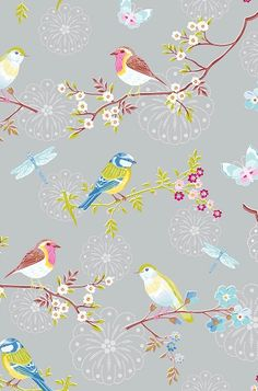 Add a little nostalgia to your room with Early Bird wallpaper. This grey wallpaper has a repeated pattern with a lead role for a robin on a Chinese blossom branch. Roll length: 10 m Pattern height: 64 cm Roll width: 53 cm Please check our Service pa Bird Wallpaper, Grey Wallpaper, Wallpaper Backgrounds, Iphone Wallpaper, Wallpapers, Wallpaper Ideas, Pip Studio, Textures Patterns, Print Patterns