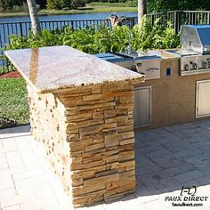 Faux Stone Panels for Your Outdoor Kitchen
