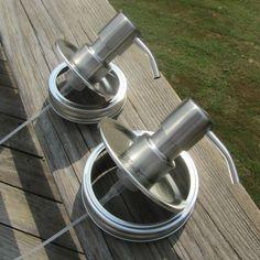 DIY Kitchen and Bath Mason Jar FOAMING Metal Soap Pump Dispenser Foamer Kit NEW #Ball