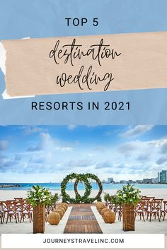 The Top 5 Destination Wedding Resorts of 2021 are in! Here are some of the best family-friendly and adults only all-inclusive destination wedding resorts of 2021. #JourneysIncRVA… More Best Destination Wedding Locations, Wedding Resorts, All Inclusive Wedding Packages, Cancun Wedding, Destination Wedding Planner, Wedding Planning, Wedding Ideas, Elope Wedding, Budget Wedding