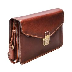 The SantinoS - Men s Leather Clutch Bag (with Wrist Strap) Handmade Clutch bed89792c7