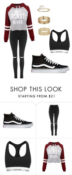 """Untitled #83"" by kaitlynandkaitlyn on Polyvore featuring Vans, Topshop, Calvin Klein and Miss Selfridge"