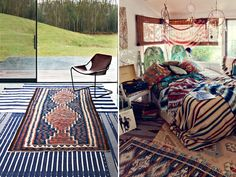 Layered rugs make spaces look so warm & welcoming.