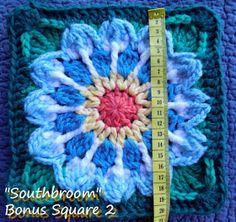 Zooty Owl's Crafty Blog: Seaside Winter Blanket: Southbroom Bonus Square 2