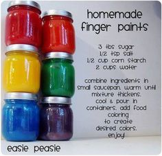 Homemade finger paints  drb
