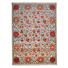Suzani Collection Oriental Rug, 9' x 12'3""