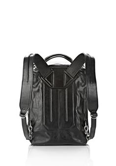 Alexander Wang INSIDE OUT BACKPACK IN BLACK WITH RHODIUM BACKPACK  09d6894f35427