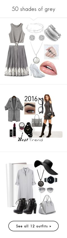 """50 shades of grey"" by chocopiesweet ❤ liked on Polyvore featuring Edge Only, Linni Lavrova, Dolce&Gabbana, David Yurman, Prada, Michael Kors, United by Blue, Charlotte Russe, Givenchy and TOMS"