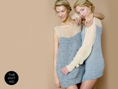 knitted dress cashmere mohair bulky nude grey theknitkid. €249,90, via Etsy.