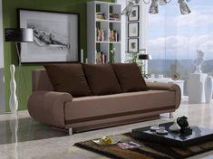 Pohovka trojsedačka Almonis (hnedá + tmavohnedá)   NovýNábytok.sk Sofa Design, Sofas, Designer, Couch, Furniture, Home Decor, Products, Environment, Lilac