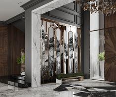 Home Entrance Decor, Entrance Design, Hall Design, House Entrance, Luxury Home Decor, Luxury Interior, Home Interior Design, Interior Architecture, Partition Design