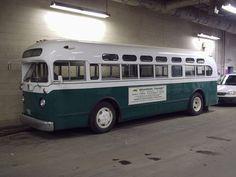 "vintage buses | ... Brandon Transit System General Motors 1957 ""old look"" preserved bus."