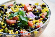 Roasted Corn and Poblano Salad with Lime Vinaigrette   23 Easy Picnic Recipes That Everybody Will Love